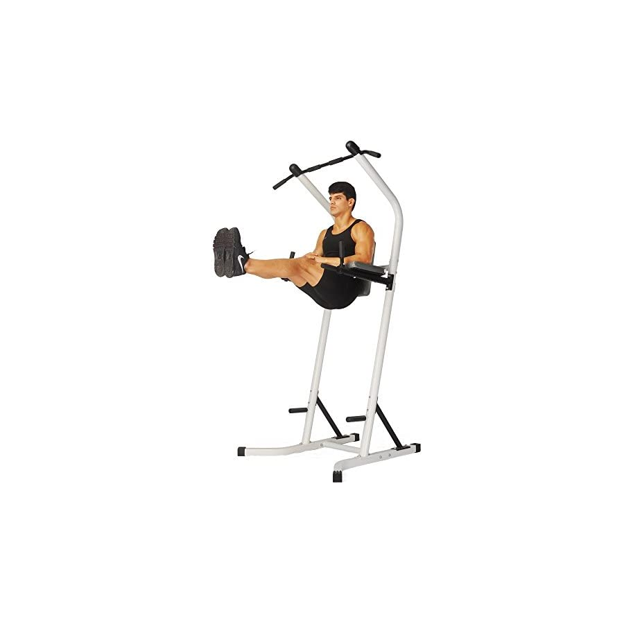 Doitpower Power Tower Free Standing Pull Up Bar Indoor Home Fitness Equipment (white)