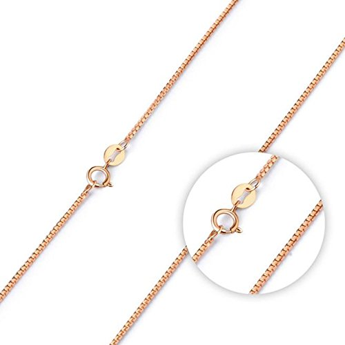 Clearance Sale!UMFunFine Jewelry Rose Gold Collares Box Chain Necklace For Men & Women ()