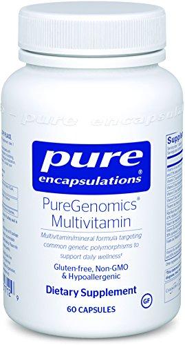 Multivitamin Without Folic Acid - Pure Encapsulations - PureGenomics Multivitamin - Hypoallergenic Multivitamin/Mineral Complex - 60 Capsules