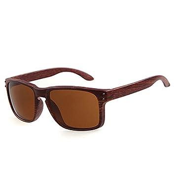 attachmenttou Gafas de sol de madera con textura UV400 gafas ...