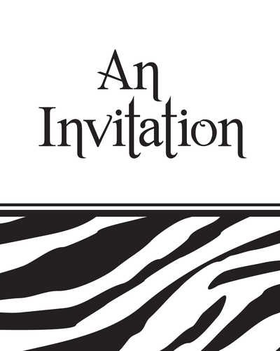 3M Creative Converting Animal Print Party Invitations, Zebra, 8 Count ()