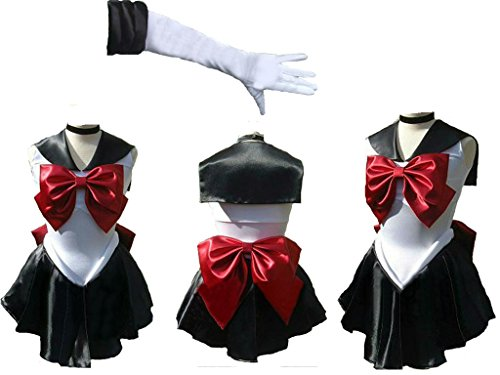 Sailor Moon sailormoon Meiou Setsuna sailor Pluto trista short with Glove and Tiara