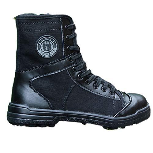da da Tattici Black Top Allenamento Uomo Leggeri Forze Alto Militari Neri Speciali Speciali Combattimento Stivali da Stivali da da Traspiranti ApzdZAx