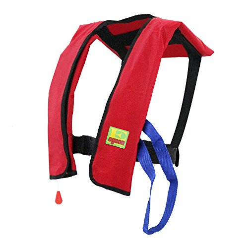 Life Preserver Vest - Eyson Inflatable Life Jacket Life Vest Basic Automatic/Manual (Red Auto)