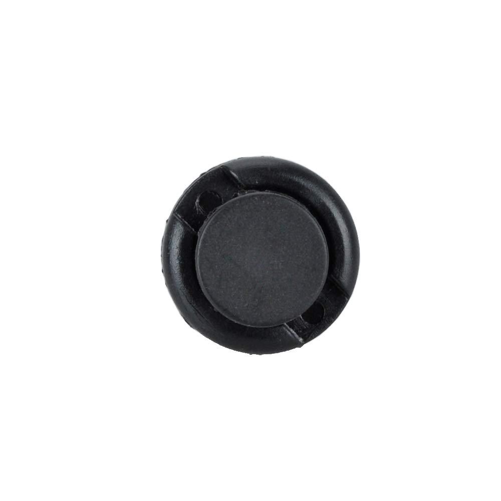 HUICAO 40Pcs 10mm Plastic Rivet Liner Fender Mud Flaps Bumper Fastener Push-Type Retainer Clips - Black