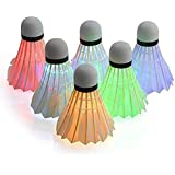 Wenini 12 Pack Badminton Shuttlecocks Feather Birdies Shuttlecock Badminton Family Student Exercise for Indoor//Outdoor Sports Activities