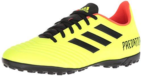 Image of adidas Men's Predator Tango 18.4 Turf Soccer Shoe, Yellow/Black/Solar red, 10.5 M US