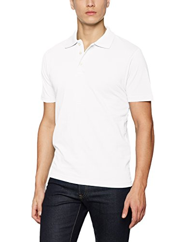 James & Nicholson Herren Poloshirt Basic Polo, Weiß (White), Large
