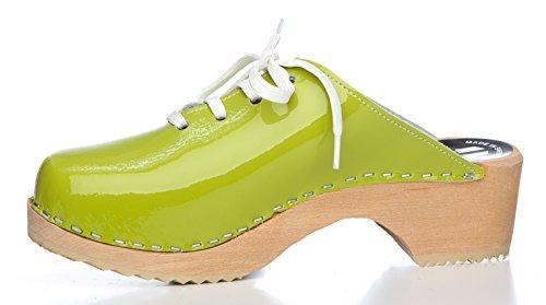 BUR Clogs - Zuecos de material sintético para mujer Verde (verde)