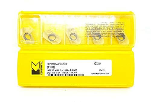 Kennametal EDPT 180548PDSRGD Hartmetall-Einsätze KC725M Frässpitzen #MK1, 5 Stück