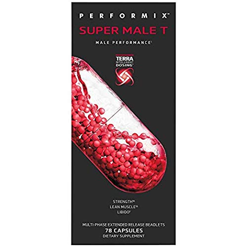 PERFORMIX Super Male T, Male Performance, Strength, Lean Muscle, Libido, 78 Capsules