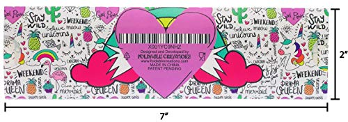 Taco Holder (Unicorn) | 2 Pack | Foldable | Tacos | Taco Shells | Taco Stand | Taco Holders | Tortilla Holder | Taco Party | Taco Plates | Taco Bar | Taco Stands | Taco Rack | Taco Tray | Taco Gifts by Fold-A-Taco (Image #1)