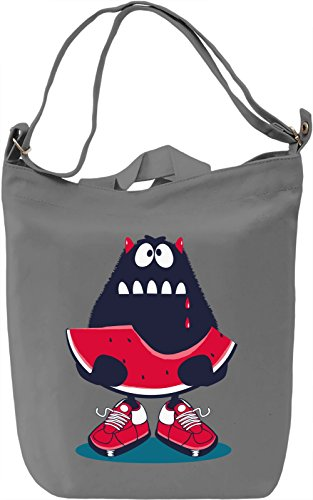 Watermelon monster Borsa Giornaliera Canvas Canvas Day Bag| 100% Premium Cotton Canvas| DTG Printing|