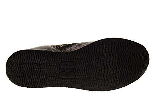 H222 Chaussures Hogan Fabric Femme Baskets HXW2220N622JEQ0LKK All Black gIgUdn4