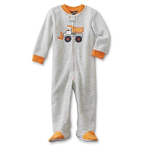 Joe Boxer Infant & Toddler Boys' Footed Sleeper Pajamas - Scoop Truck 12M