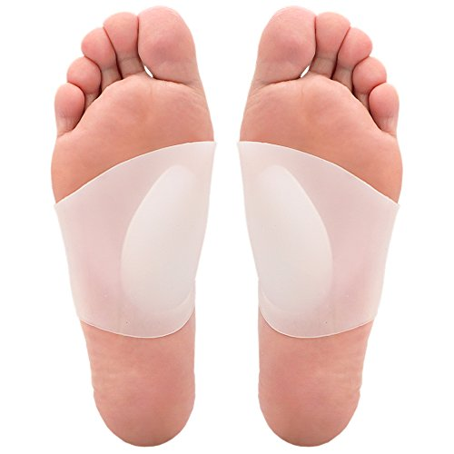 Skyfoot's Arch Support Plantar Fasciitis Soft Gel Sleeves for Flat Feet Pain Relief for Men and Women - 1 Pair (Large W10-13 l M9-14)