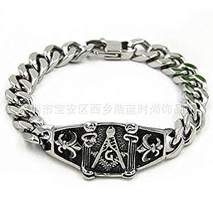 FVNR braceletCurved Brand Grinding Chain Bracelet Men Titanium Steel Stainless Steel Casting Bracelet