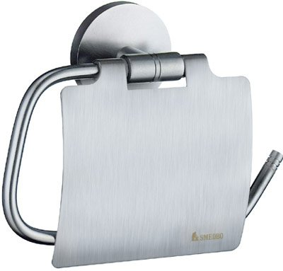 Studio Toilet Roll Holder Finish: Brushed Chrome, Type: With Lid -