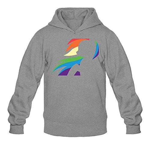 Tommery Men's My little pony Hasbro Rainbow Dash Costume Logo Long Sleeve Sweatshirts Hoodie