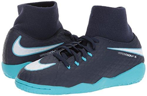 917774-414 Nike Jr. HypervenomX Phelon III DF (IC) Fussballschuh Kinder [GR 36,5 US 4,5Y]