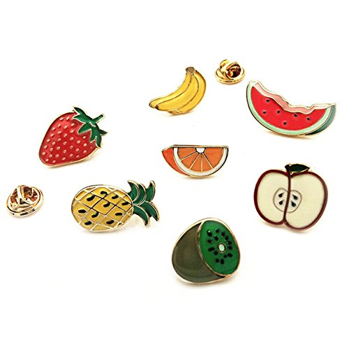 Fruit Pin Brooch (Partyfareast Cute Brooch Pin Set for Backpack/Clothes/Bags (fruit set))
