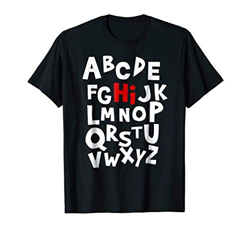 (Back to School Hi Alphabet Letters T Shirt for Women)