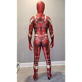 - 41OpST 2BYXzL - Spider-Man Cosplay Costume | Iron Spider | PS4 Insomniac Spiderman | Bagley | Superior |All New Lycra Fabric | Bodysuit