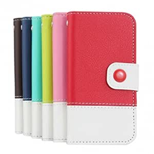 Fashion Design PU Leather Flip Case With Card Holder For iPhone 5 --- Color:Pink