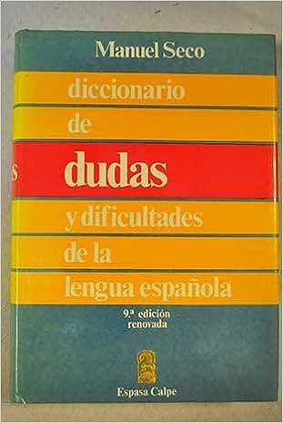 Lataa ilmaisia eBay-kirjoja Diccionario De Dudas Y Dificultades De LA Lengua Espanola (Spanish Edition) Suomeksi PDF DJVU by Manuel Seco