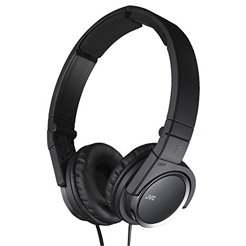 JVC HAS400B Carbon Nanotube On-Ear Headband Headphones (Black)