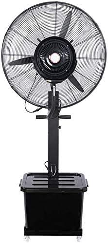 強力ファン ファン 工業用スプレーファンペデスタルファンフロアファンミストスウィング冷却プラス水力発電多機能ブラック-3ギア10時間ボリューム42リットル,サイズ:710mm