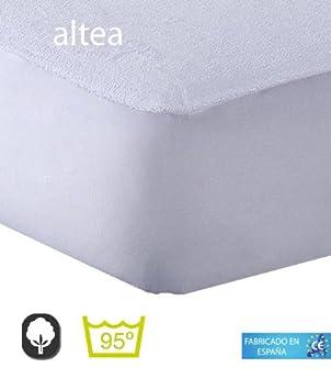 Belnou - Protector colchón altea, cama 90x190, color blanco: Amazon.es: Hogar