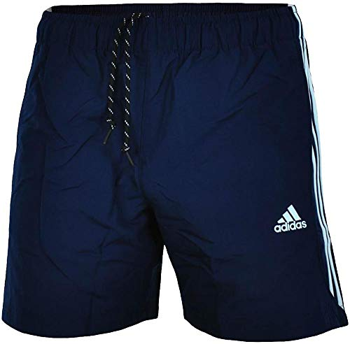 adidas Mens Shorts Essentials 3 Stripe Shorts Woven 3 Stripe Gym Running Shorts (M, Navy/White) ()