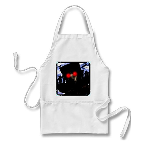 [Vintage Apron Halloween White One size] (Best Homemade Horror Costumes)