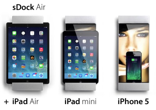 smart things sDock Air iPad wall mount and docking station for iPad Air 1 + 2, iPad 4, iPad Pro 9.7 inch with picture frame - All in one by smart-things (Image #2)