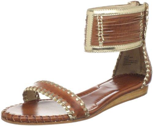 Frye Amelie Cognac Multi Strap Sandal Ankle Women's g6xqrngp