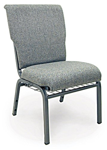 McCourt 10520 Auditorium Stack Chair, Standard Fabric, Single, Charcoal (Auditorium Chairs)