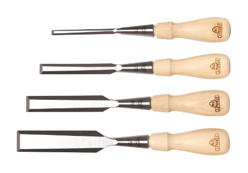 Stanley 16-791 Sweetheart 750 Series Socket Chisel Set, Brown, 4 - Piece (Woodworking Set Chisel)