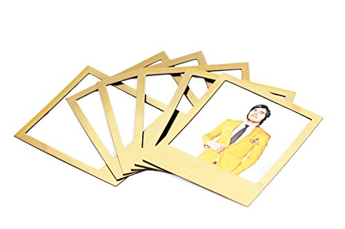 Doiy Golden Polaframes - Pack of 6 magnets (Gold Frame Magnet)