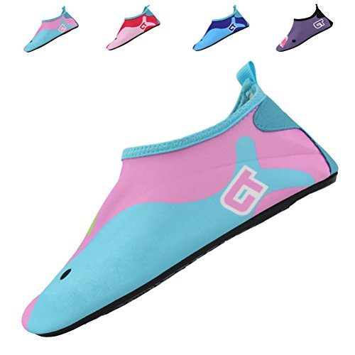 SexRt Kids Mutifunctional Water Shoes for Swimming, Beach, Pool,pink,30.31