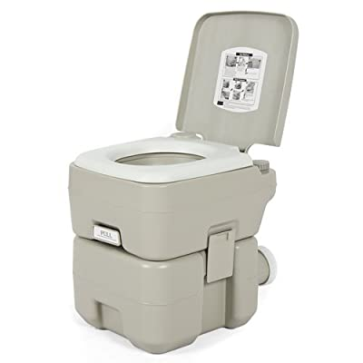 Best Choice Products Portable 5-Gallon Toilet w/Dual Spray Jet Flush Function