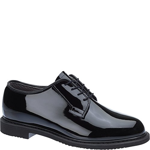 Bates Lites Black High Gloss Oxford (Bates High Gloss Leather)