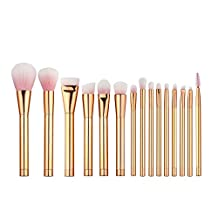 MagiDeal 15Pcs Pro Rose Gold Makeup Brushes Set Blending Face Contour Powder Foundation Cosmetics Brush Beauty Tool