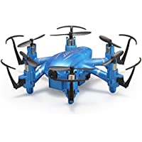 JJRC H20W Phone Wifi FPV Real Time with HD Camera LED RC Mini Drone 6 Axle 2.4G 4CH 3D Flip Headless Hexacopter RTF Toys - Blue