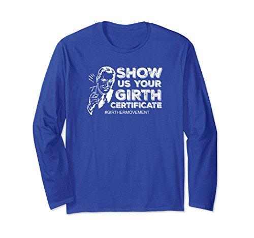 Your Girth Certificate Design Trump Medium Royal Blue (Blue Birth Certificate)