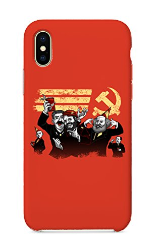 iPhone X 10 Case - Communist Party Funny Pun Famous Communist Leaders Partying