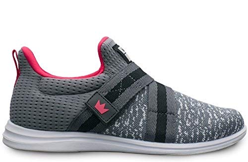 Brunswick Ladies Versa Bowling Shoes- Grey/Pink 6 ()