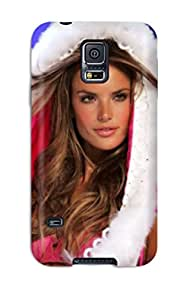 Galaxy S5 Case Cover - Slim Fit Tpu Protector Shock Absorbent Case (alessandra Ambrosio )