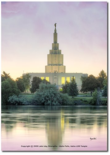 (IDAHO FALLS, IDAHO LDS TEMPLE on the SNAKE RIVER at Sunrise - 5