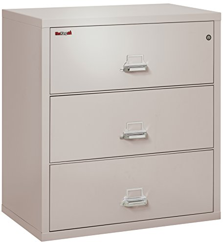 (FireKing Fireproof Lateral File Cabinet (3 Drawers, Impact Resistant, Waterproof), 40.25